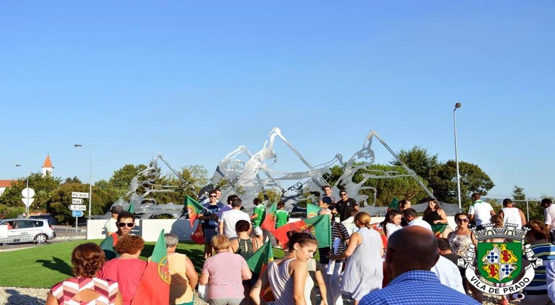Inauguração do Monumento ao Canoísta com manifestação de apoio a Hélder Silva