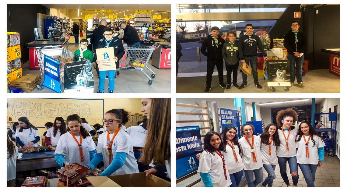 Escuteiros e Guias da Vila de Prado recolheram donativos para o Banco Alimentar!